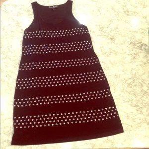 Black studded Dress
